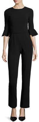 Black Halo Brooklyn 3/4-Bell-Sleeve Jumpsuit