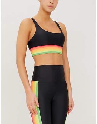 Beach Riot Leah striped stretch-jersey top