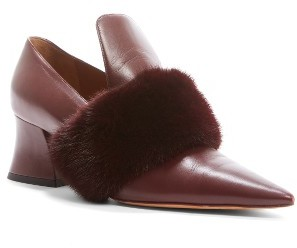 Women's Givenchy Patricia Pump With Genuine Mink Fur Trim