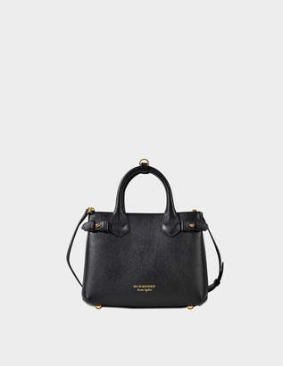 Burberry Small Banner Bag in Black Grained Calfskin