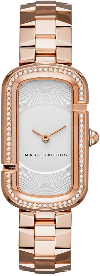 Marc By Marc JacobsMarc by Marc Jacobs Women's The Jacobs Rose Gold-Tone Stainless Steel Bracelet Watch 20x31mm MJ3533