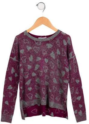 Autumn Cashmere Girls' Wool Intarsia Sweater w/ Tags
