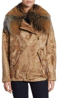 Michael Kors Fur Moto Jacket