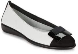 The Flexx Rise N Curry Leather Flats