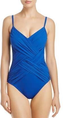 Gottex Lattice V Neck One Piece Swimsuit