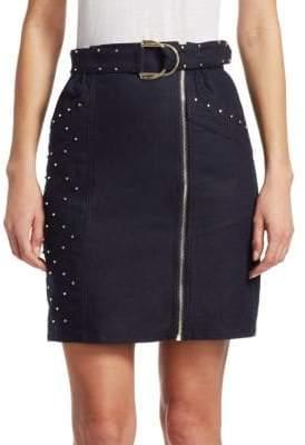 Maje Jinta Zip-Front Skirt