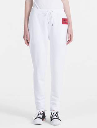 Calvin Klein monogram logo cotton terry sweatpants