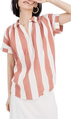 Madewell Dovedale Stripe Central Popover Shirt