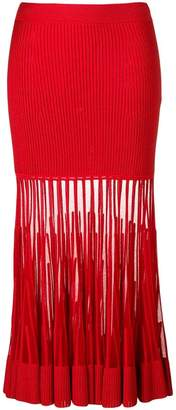 Alexander McQueen fitted flared skirt