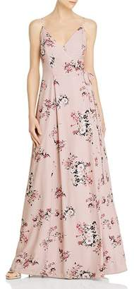 WAYF Angelina Floral Wrap Gown