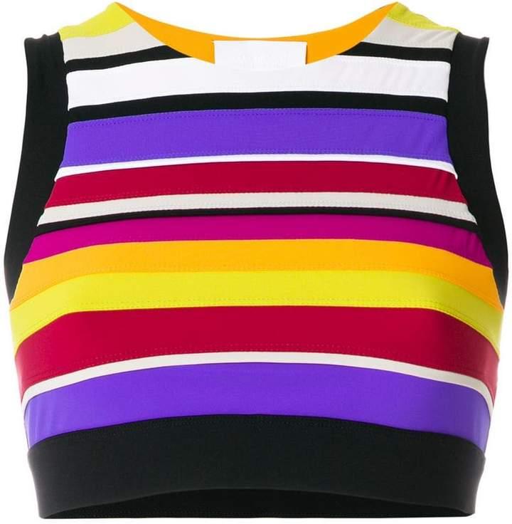 No Ka' Oi striped cropped top