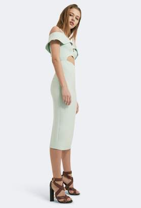 Aq/Aq Etira Cold Shoulder Midi Dress