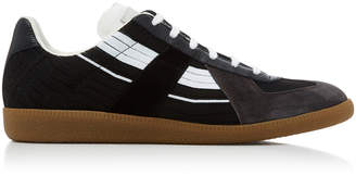 Maison Margiela Replica Striped Canvas Sneakers