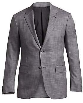 Ermenegildo Zegna Men's Check Twill Wool Jacket
