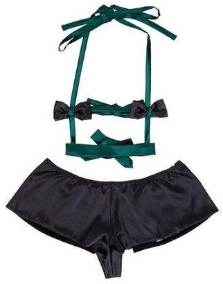 La Perla Silk-Blend Lingerie Set w/ Tags $125 thestylecure.com