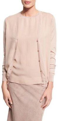 Ralph Lauren Collection V-Neck Button-Front Cardigan, Rose $1,290 thestylecure.com