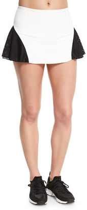Michi Deuce Mesh-Panel Tennis Skirt $120 thestylecure.com