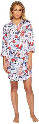 Lauren Ralph Lauren Long Sleeve His Shirt Sleepshirt Women's Pajama