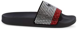 Giuseppe Zanotti Embellished Leather Slides