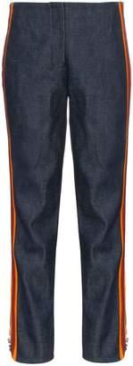 Calvin Klein high waist striped slim-fit jeans