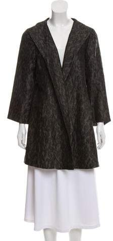 Eileen Fisher Silk-Blend Brocade Coat