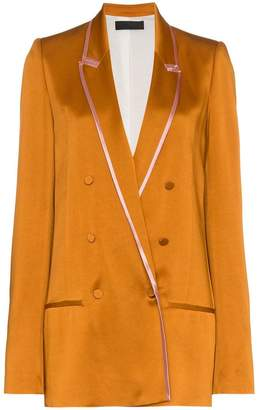Haider Ackermann Double-breasted Two-Tone Satin Blazer