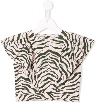 Stella McCartney zebra print blouse