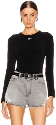 Off-White Off White Long Sleeve Bodysuit in Black & White | FWRD