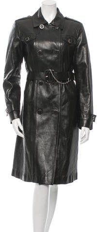 Gucci Leather Trench Coat