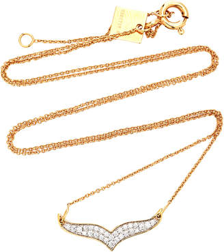 ginette_ny Wise Diamond And 18K Rose Gold Necklace