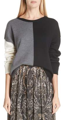 Fuzzi Colorblock Wool Sweater