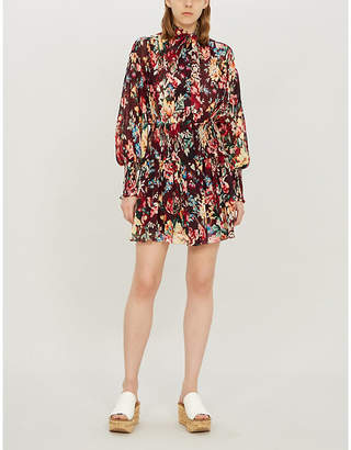 Zimmermann Allia floral-print cotton and silk-blend dress
