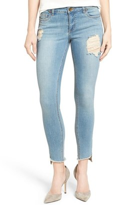 Women's Kut From The Kloth Frayed Hem Stretch Distressed Skinny Jeans $89 thestylecure.com