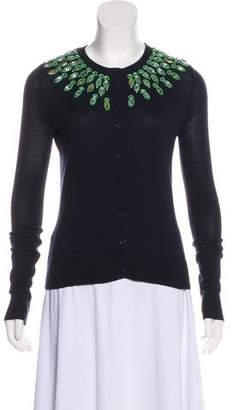 Tory Burch Embellished Button-Up Cardigan