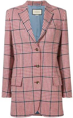 Gucci houndstooth check blazer