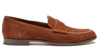Fratelli Rossetti Azir contrast-stitch suede loafers