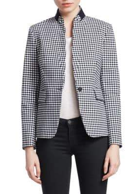 Rag & Bone Archer Gingham Plaid Blazer