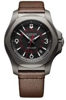 Victorinox Inox Titanium& Leather Watch
