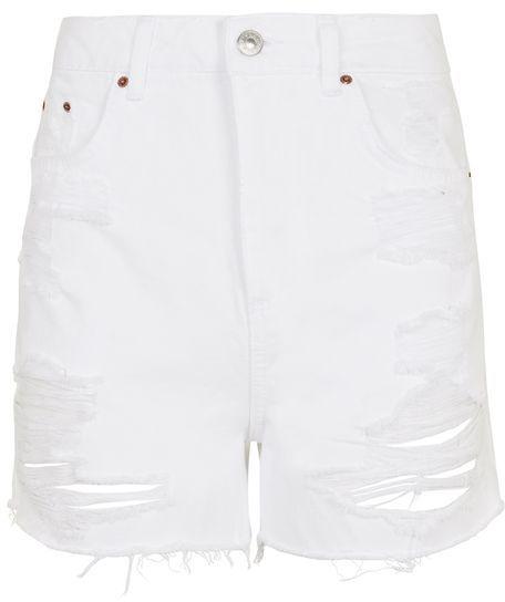 TopshopTopshop Moto longline denim mom shorts