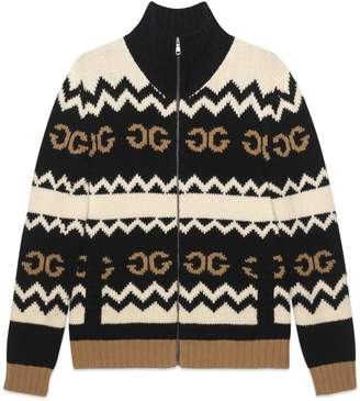 Gucci Wool jacket with mirrored GG