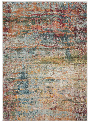 "Safavieh Monaco Teal and Orange 4' x 5'7"" Area Rug"