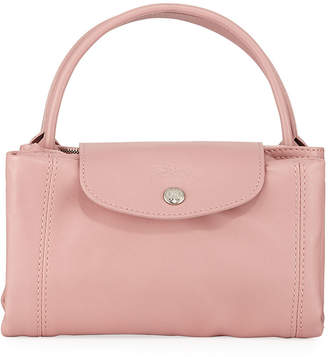Longchamp Le Pliage Cuir Small Leather Top-Handle Bag with Strap 518f87f3d5a1f