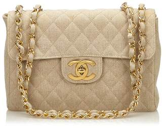 Chanel Vintage Jumbo Matelasse Denim Flap Bag