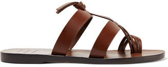 Trademark - Capra Knotted Leather Sandals - Brown