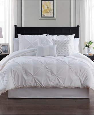 Sanders Pom Pom Seven Piece King Size Comforter Set Bedding