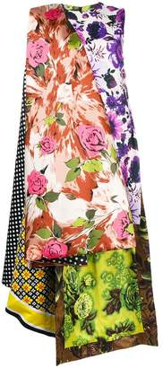 Richard Quinn floral print high low dress