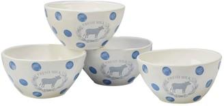 Certified International Urban Farmhouse 4-piece Ice Cream Bowl Set