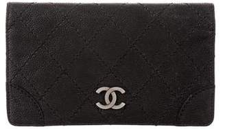 Chanel Matte Caviar Bifold Long Wallet