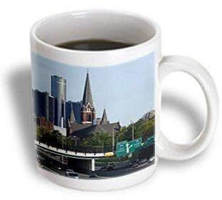 Church's 3dRose MI, Detroit, St. Joseph Church, GM Corporation - US23 PSO0009 - Paul Souders, Ceramic Mug, 11-ounce