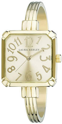 Laura Ashley Gold Skinny Bangle Square Watch